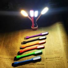 1pcs Mini Table Lamp Reading Book Light Gadgets Flexible USB led Night Lights Eye Hand for Power PC laptop Notebook