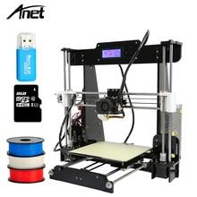 2017 Hot sale Anet A8 3D Printer reprap prusa i3 cheap desktop DIY 3d printer kit with free filament 8G SD Card impresora kit