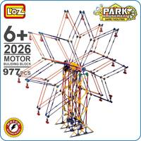 LOZ Motor Building Block Ferris Wheel Toys Electric Gear Blocks Bricks Battery Engine Amusement Park Toy City DIY Model Kid 2026