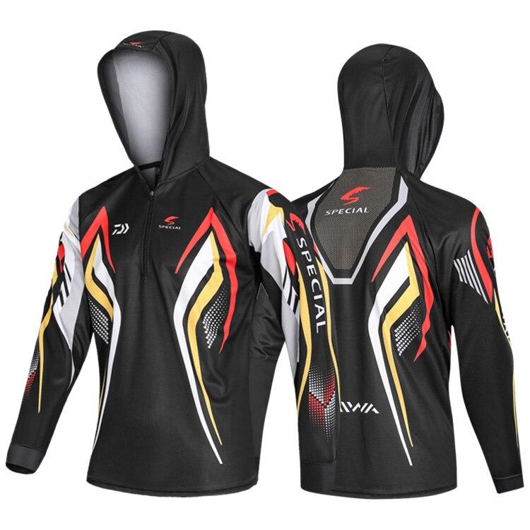 DAIWA летняя одежда для рыбалки куртка с капюшоном водонепроницаемое быстросохнущее пальто рубашка для рыбалки для пеших прогулок велосипедная одежда для рыбалки