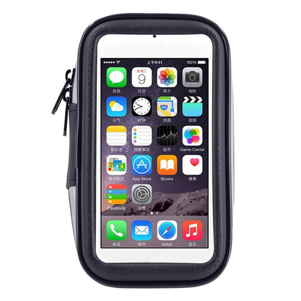 Front Tube Storage MTB Bike Touch Screen Bicycle Bag Mobile Phone Package Cycling Bracket Stander Waterproof Bag With Holder bicycle touch screen tube bag bike cycling touch screen mobile phone bag pannier bag