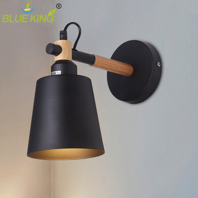 Nordic Wood Wall Lights Sconce Fixtures LED Wall Lamp Up Down for Home Lighting Indoor Bedside Stair corridor fixture