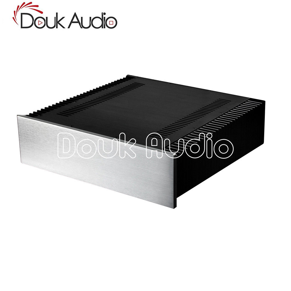 Douk Audio Aluminum Chassis Class A Power Amplifier Enclosure DIY Case W430*H120*D411 mmDouk Audio Aluminum Chassis Class A Power Amplifier Enclosure DIY Case W430*H120*D411 mm