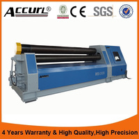 Hydraulic plate rolling machine 4 roller CNC steel plate bending rolling machine