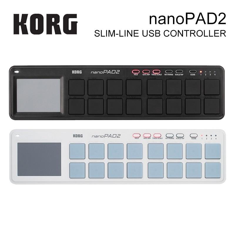 Korg nanoKEY2 nanoPAD2 nanoKONTROL2 Slim-Line USB MIDI Pads 16 Tripper Pads with USB Cable