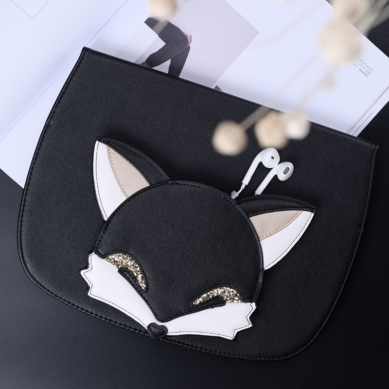 Cute Fox Smart PU Leather Case Flip Cover For Apple iPad Air2 Air 2 9.7 Tablet Case Cover Protective Bag Skin+storage bag GD ultra thin smart flip pu leather cover for lenovo tab 2 a10 30 70f x30f x30m 10 1 tablet case screen protector stylus pen