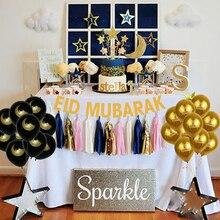 Украшения для Рамадана Eid Mubarak, золотой баннер, воздушные шары, Мусульманский Исламский праздник Eid al fitr Рамадан Mubarak вечерние праздничный Декор