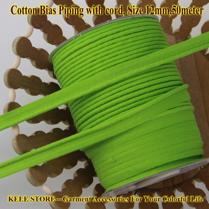 Free Shipping 100% Cotton Bias Piping, Piping Tape,bias