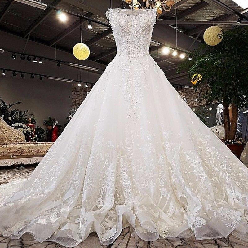 High-end Vintage Style Princess Wedding Dress 2018 Beading Tassel Fashion Sexy Off Shoulder Wedding Dress Backlake Dress
