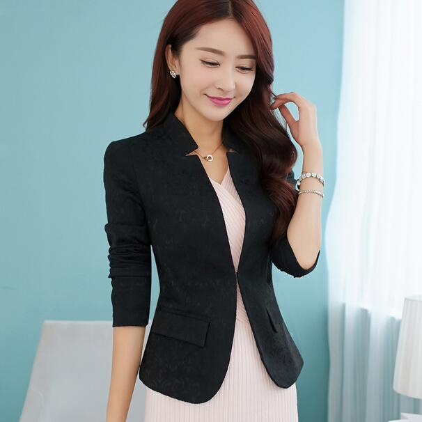 2018 Spring V Neck Stylish Women Blazers Blue Slim Fit Female Blazer Women Office Work Suit Jackets White Blue Plus Size Dc194 High Standard In Quality And Hygiene Blazers