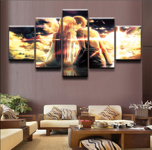 Painting Canvas Wall Art Picture Home Decoration Living Room sword art online Anime 5 Pieces HD Print