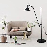 Replica Design black Floor Lamp/light Mantis arm Floor standing Lamp black color Loft Industrial bedroom decor Standing Lamp