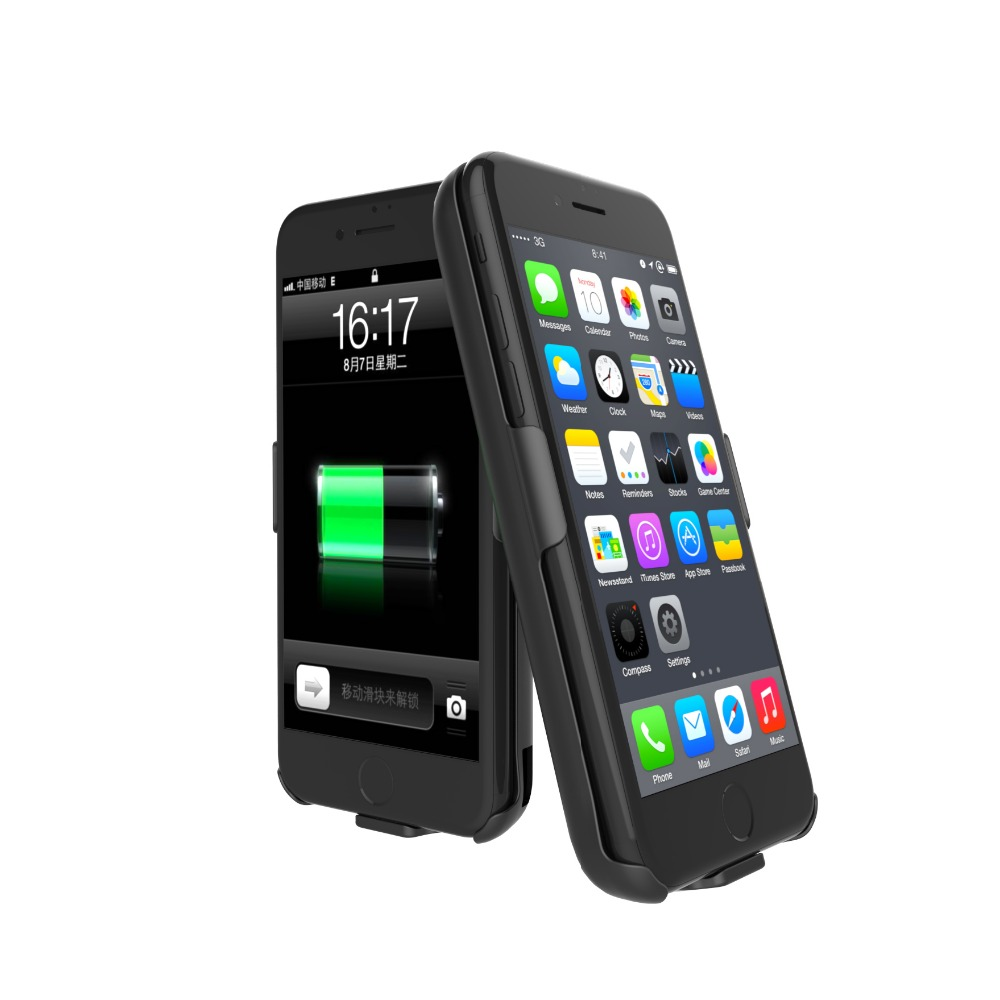 Power Case For iPhone 6 6S External Battery Charger Case 5000mAh Backup Pack Charging Case font