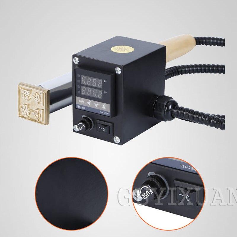 220V / 300W Gold folie stanzen maschine Elektrische lötkolben Kuchen Präge Maschine Gedruckt marke elektrische eisen