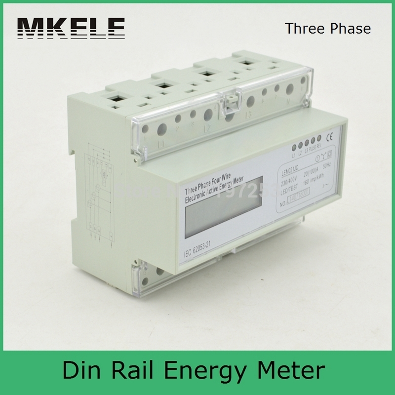ФОТО New Arrivals Din Rail MK-LEM021JC Energy Power Watt Meter Box Three Phase Analog Digital Display China