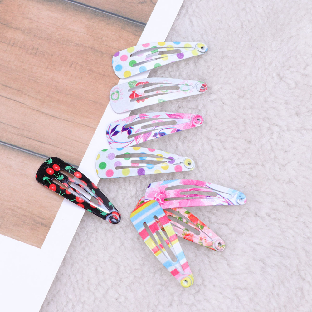 100 Pcs Hair Clips Metal Lovely Floral Pattern Barrettes Hairpins Snap for Teens