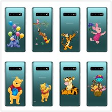 Lovely winnie the pooh Eeyore Tigger Silicon Case Cover For Samsung A3 A5 A7 2016 A5 A7 2017 A6 A8 2018 Plus A7 2018 A750 цена