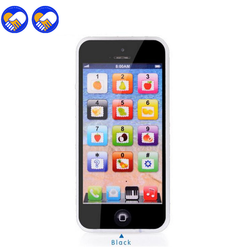 Led Baby Educational Toys Cellphone English Baby Phone Toy Mobile Phone Model Children Learning Toys For Christmas Zb-a300-1