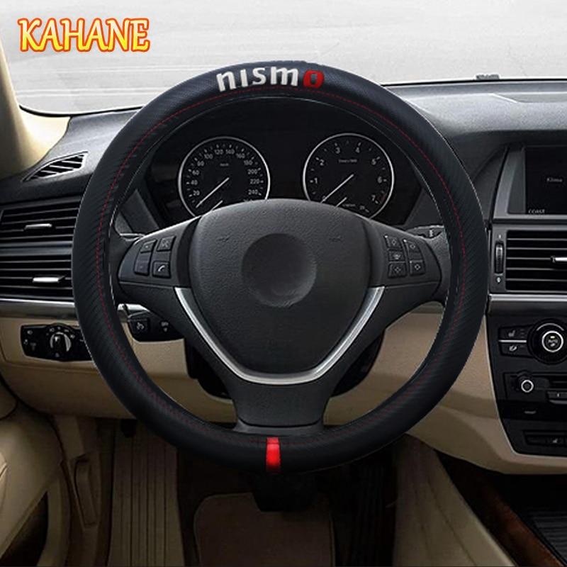 Carbon Fiber Sport Car Steering Wheel Cover Size 38cm FOR Nissan Qashqai J11 Qashqai Juke Teana Sylphy