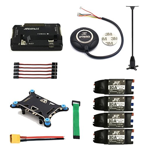 JMT 4-axis RC Drone Parts APM 2.8 Quadcopter Flight Controller 7M GPS Model with Compass Shock Absorber 30A ESC drone upgraded apm2 6 mini apm pro flight controller neo 7n 7n gps power module