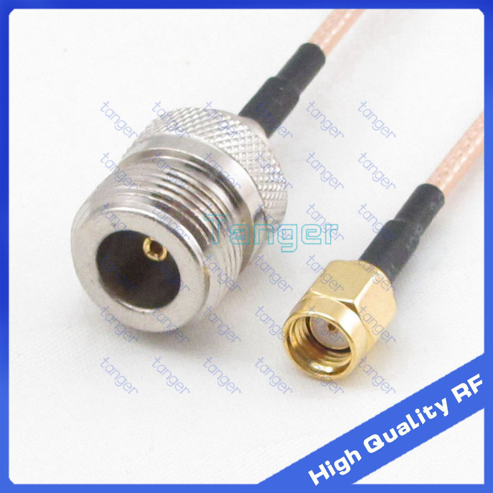 FREE SHIP LOT OF 5 NEW 5 ft RG316 Coaxial Cable w// Suhner TNC Male Connectors