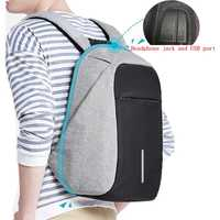 "Men Multifunction USB Charging Headphone plug Anti-theft 15.6"" Laptop Backpack women waterproof Business Large Travel Backpack"