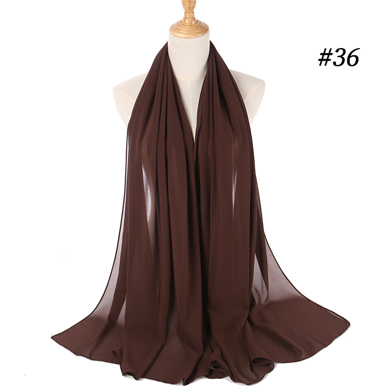 Chiffon scarf and hijab wrap and scarves