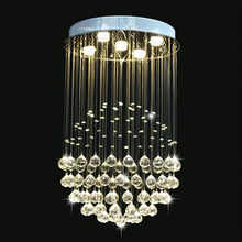 Manggic Modern K9 Large LED SphericLiving Room Crystal Chandeliers Round Light Fixture Lamp Room Interior Hotel Hall Room