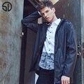 Мужчины Куртка Мужчины Повседневная Slim Fit Водолазка Воротник Твердые Куртки L-XXXL Новый 2017 мужская Мода Пальто Мужской Clothing