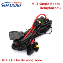 Car HID Conversion Light Relay Harness single beam relay H1 H3 H7 H8 H11 9005 9006 12V 40A car styling