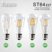 Iminovo 20 упак. светодиодные лампочки накаливания E27 ST64 Винтаж светодиодные лампочки Эдисона Ретро Стекло затемнения лампы 2 Вт 4 вт 6 Вт 8 Вт