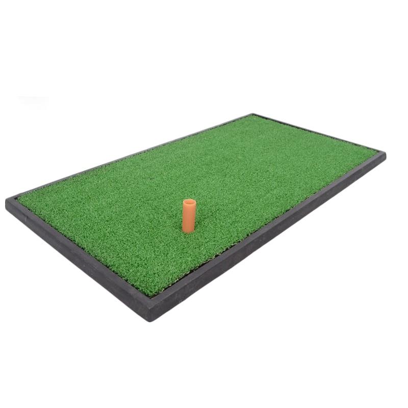 Freeshipping Backyard Golf Mat 60x30cm Training Hitting Pad Practice Rubber Tee Holder Grass Indoor Golf Hitting Mat