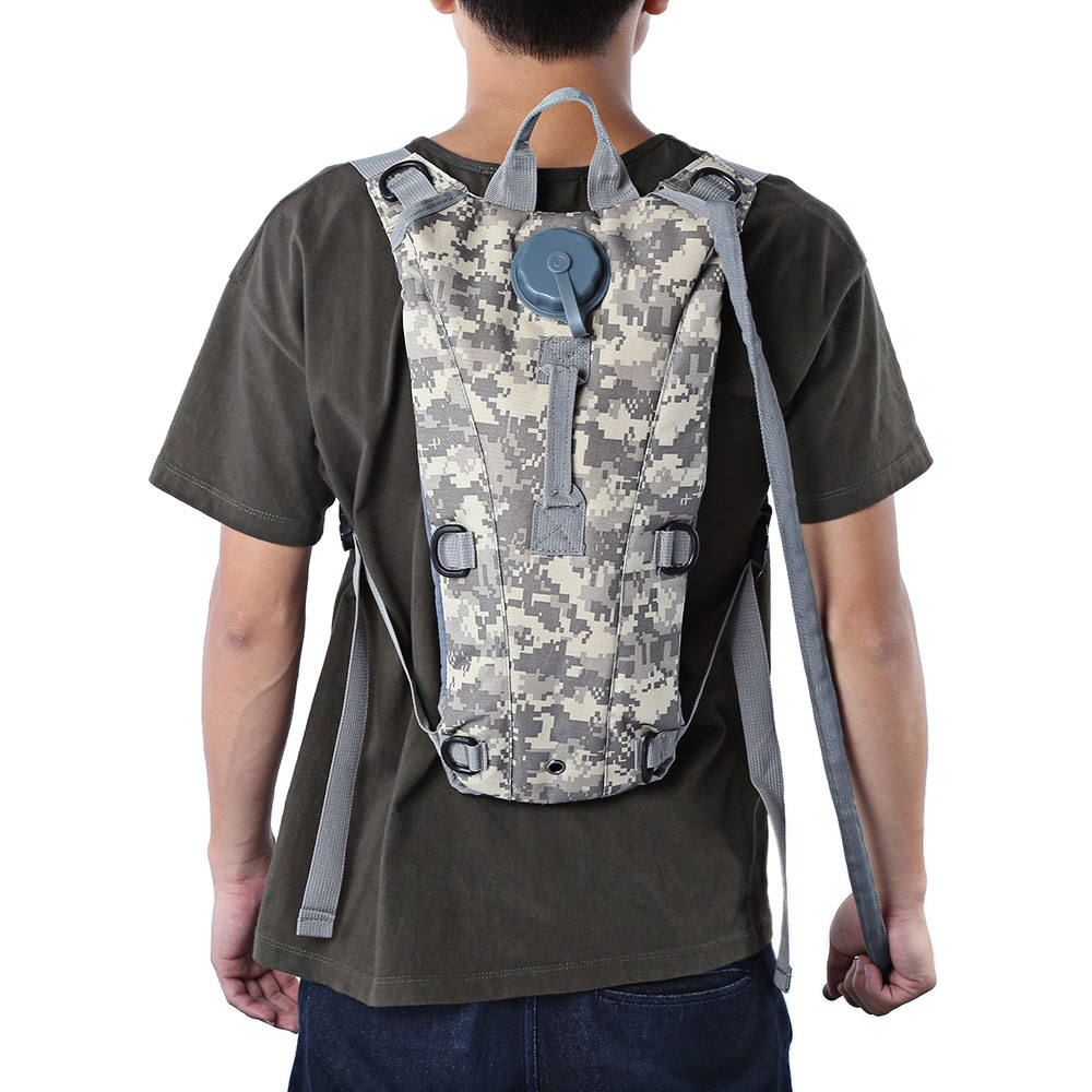 Portable 3L Water Bladder Bag Hydration Pack Camo Tactical Bike Bicycle Assault Backpack Camping Hiking Pouch Cycling Rucksack