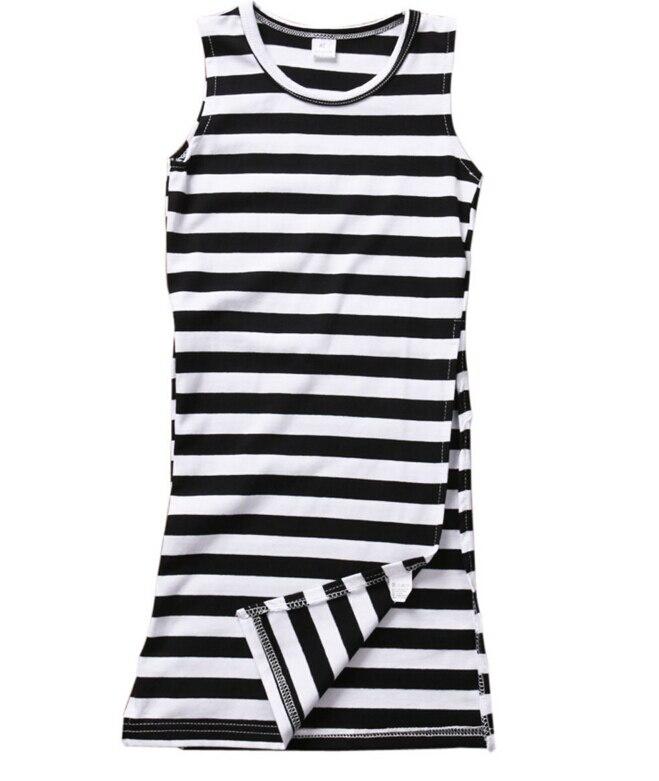 Fashion Kids Baby Girl Clothing Stripe Dress Sleeveless Mini Brief Sundress Maxi Summer Clothes Girls