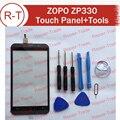 ZOPO ZP330 Сенсорный Экран 100% Оригинальный Сенсорный дигитайзер стекла Сенсорный замена панели Для ZOPO ZP330 (Черный)
