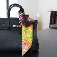 جديد ليوبارد طباعة الحرير وشاح صغير ساحة الحرير وشاح الحرير وشاح للنساء الأزياء حقيبة الديكور