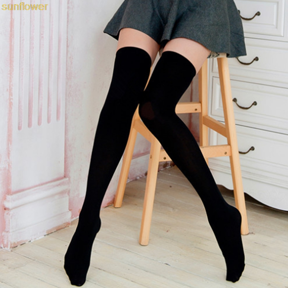 Sexy Stocking Overknees Over The Knee Socks Women Stockings High Socks Solid Stockings