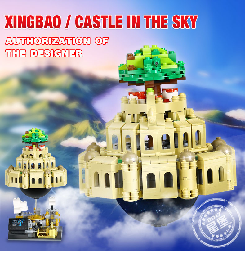 XingBao 05001 Block 1179Pcs Genuine Creative MOC Series The City in The Sky Set Educational Building Blocks Bricks Model xingbao 05001 1179pcs city in the sky set genuine creative moc series educational building blocks bricks model toys for children