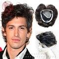 Сетку для волос 12*13 см ручной работы мужская парик 100% реальные Человеческие волосы замена Системы Верхняя Часть мужская Парик волос Волос Системы мужчины