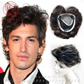 Hairnet 12*13cm Hand woven mens toupee 100% Human real hair Replacement System Top Piece men's hair Toupee Hair System For men