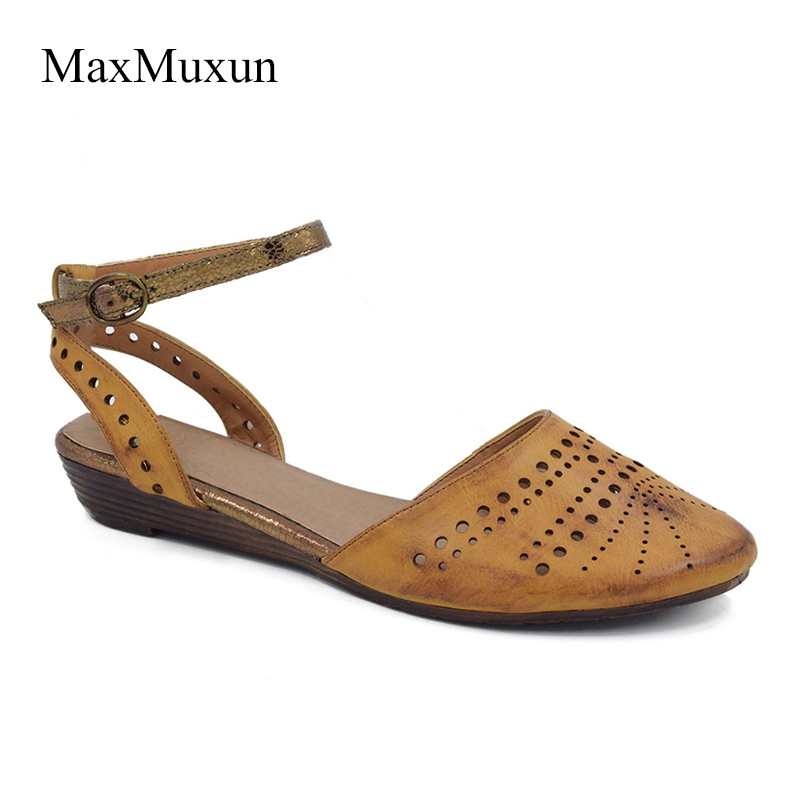 MaxMuxun Womens Closed Toe Flat Sandals  Summer Fashion Cut Out Cage Strappy Slingback Gladiator Sandals Casual Dress GirlMaxMuxun Womens Closed Toe Flat Sandals  Summer Fashion Cut Out Cage Strappy Slingback Gladiator Sandals Casual Dress Girl