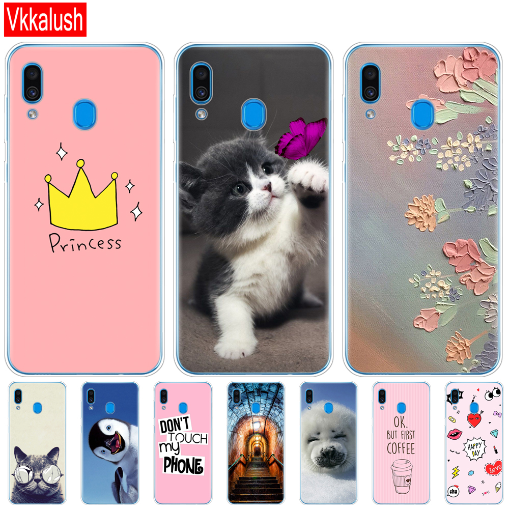 Mobile Phone Bag Case For Samsung Galaxy A20 Case A20E Silicon Back Cover For Samsung A20 2019 A205F A20E A202F Cover Soft Case