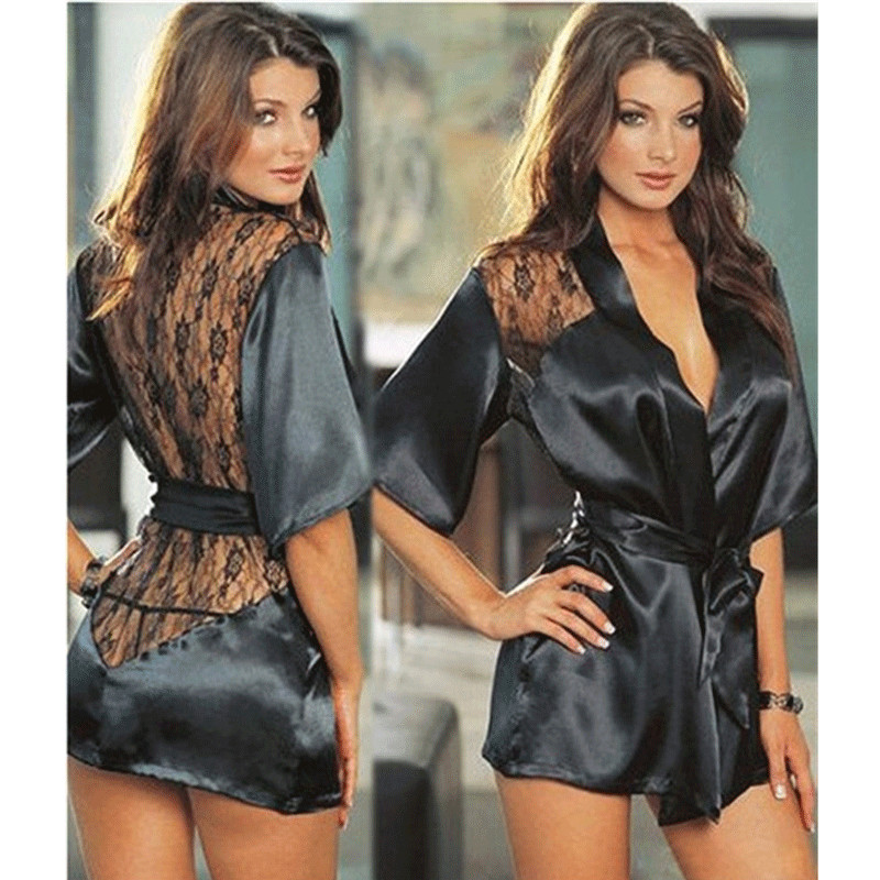 Sexy Lingerie Robe <font><b>Dress</b></font> Women Porno Lingerie Sexy <font><b>Hot</b></font> Erotic Underwear Plus Size Nightwear <font><b>Sex</b></font> Costumes Teddy Exotic Apparel image