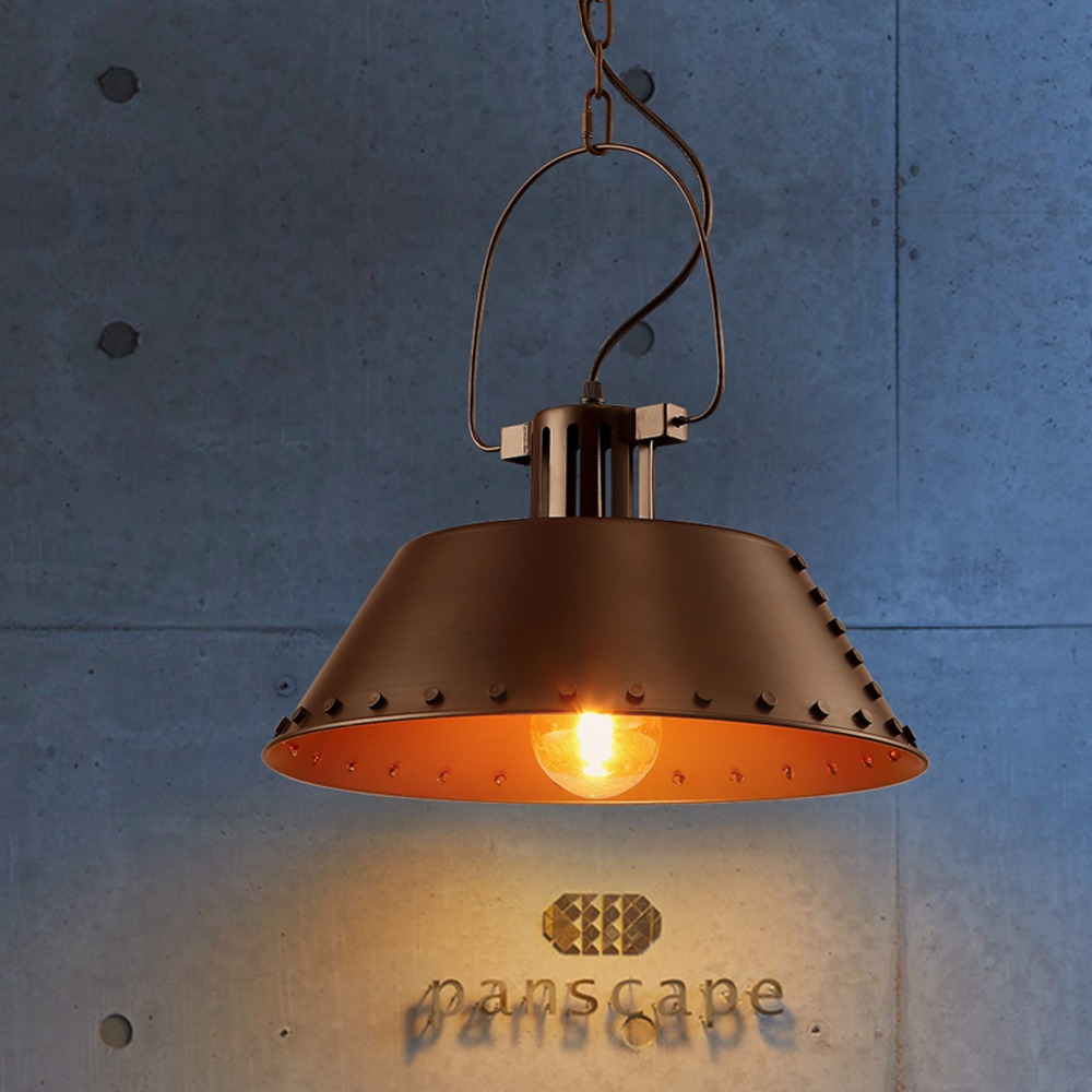 Edison Bulbs Lamps 110V 240V AC D40cm Metal Pendant Lights Vintage Retro Loft Lampshade Luminarias Retro