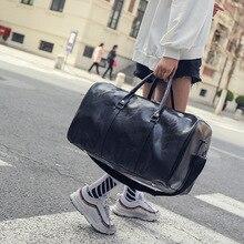 0c2086f3b310 Free Shipping Popular Design PU Leather Weekend Duffel Bag Portable  Highcapacity Men s Leisure Business Travel Bag
