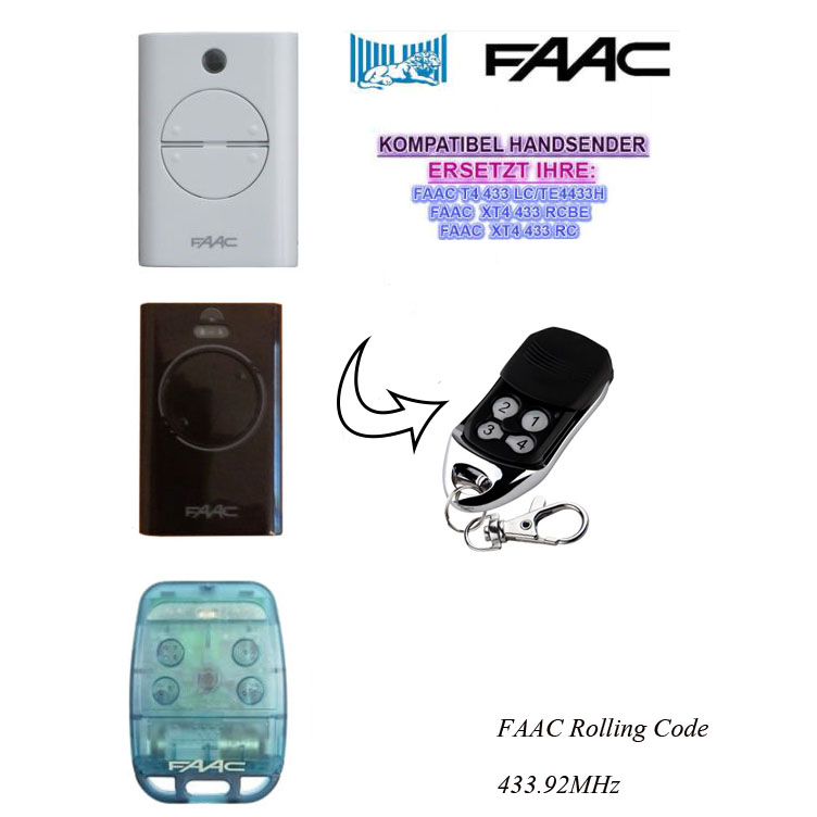 100pcs FAAC XT2/XT4/TE4433H/787452/433LC replacement remote Rolling code 433.92mhz DHL f ...
