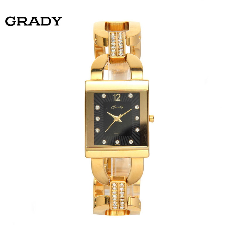 Grady Gold Bracelet Watches Women Fashion Luxury Watch Women Brand Ladies Quartz Watch Wristwatches Free Shipping battery capacity testing electronic load nicd and nimh mobile power supply tester tec 06 lithium battery page 3