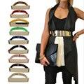 Moda Espejo de Metal Elástico de Lentejuelas de Oro de Accesorios de Las Mujeres de Cintura de La Pretina