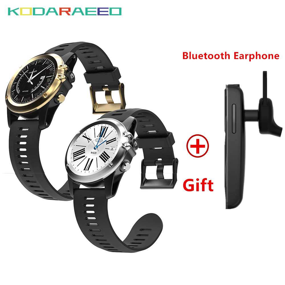 H1 Smart Watch Android 4GB ROM GPS SIM 3G watch phone Heart Rate tracker Camera IP68 Waterproof Bluetooth Smartwatch with gift 3pcs lot dhl free c5 bluetooth smart watch phone with sim waterproof sport smart watch with heart rate uv temperature g sensor
