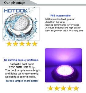 Image 5 - Hotook水中ライトステンレス鋼ledスイミングプールライトrgb 12ボルト壁掛けランプip68マルチカラー用水族館ガーゼ